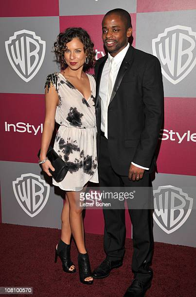 Actress Nicole Lyn and Actor Dule Hill arrives at the 2011 InStyle And Warner Bros 68th Annual Golden Globe Awards postparty held at The Beverly...