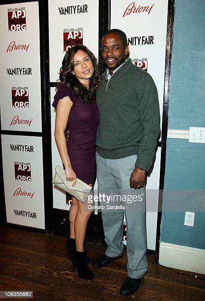 Actress Nicole Lyn and actor Dule Hill attend Vanity Fair Campaign Hollywood 2011 celebrating Artists for Peace and Justice presented by Brioni held...