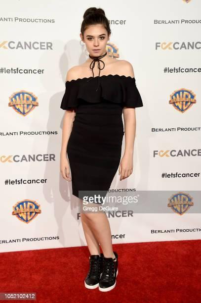 Actress Nicole Maines arrives at FCancer's 1st Annual Barbara Berlanti Heroes Gala at Warner Bros Studios on October 13 2018 in Burbank California