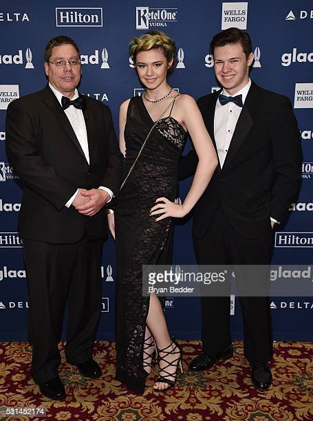 Actress Nicole Maines attends the 27th Annual GLAAD Media Awards in New York on May 14 2016 in New York City