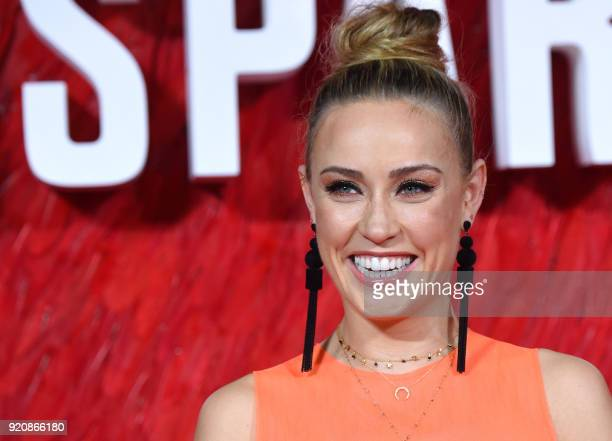 Actress Nicole O'Neill poses on the red carpet on arrival to attend the European premiere of the film Red Sparrow in London on February 19 2018 / AFP...