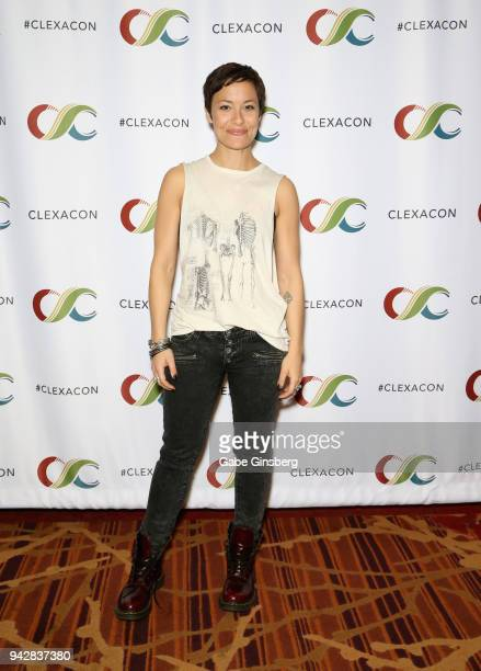 Actress Nicole Pacent attends the ClexaCon 2018 convention at the Tropicana Las Vegas on April 6 2018 in Las Vegas Nevada