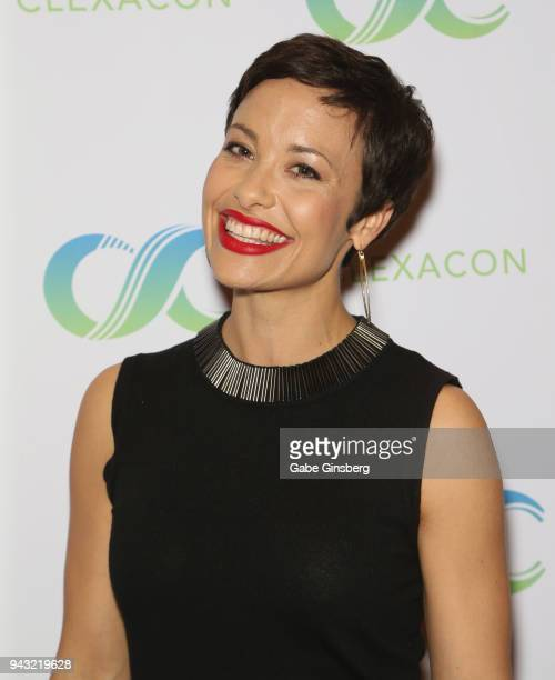 Actress Nicole Pacent attends the Cocktails for Change fundraiser hosted by ClexaCon to benefit Cyndi Lauper's True Colors Fund at the Tropicana Las...