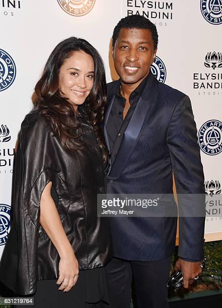Actress Nicole Pantenburg and musician/record producer Kenny 'Babyface' Edmonds arrive at The Art of Elysium presents Stevie Wonder's HEAVEN...