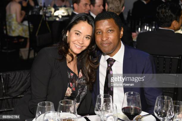 Actress Nicole Pantenburg and musician/record producer Kenny 'Babyface' Edmonds during American Film Institute's 45th Life Achievement Award Gala...
