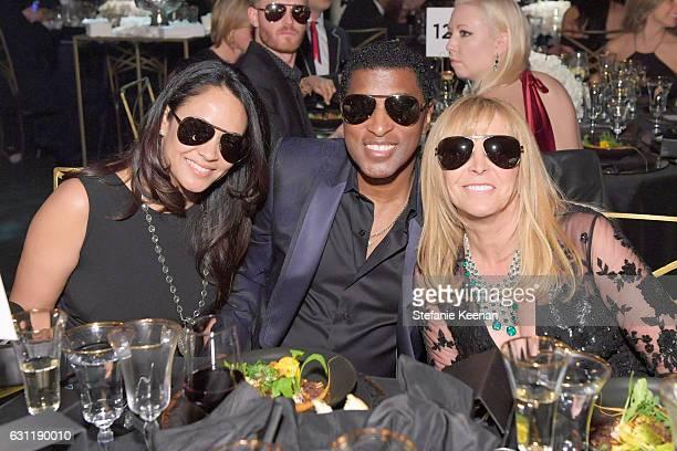 Actress Nicole Pantenburg singer/songwriter Babyface and event cochair Iris Smith attend The Art of Elysium presents Stevie Wonder's HEAVEN...