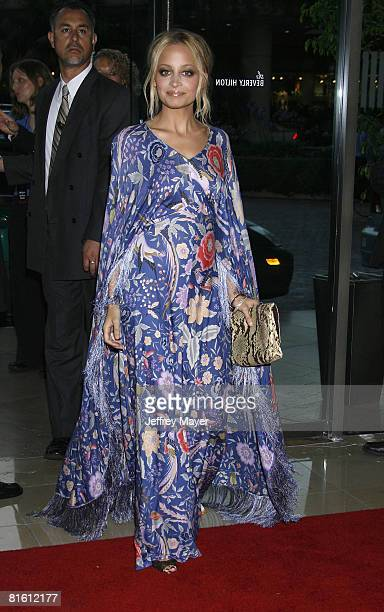 Actress Nicole Richie arrives at The 2008 Crystal Lucy Awards 'A Black And White Gala' on June 17 2008 at the Beverly Hilton Hotel in Beverly Hills...