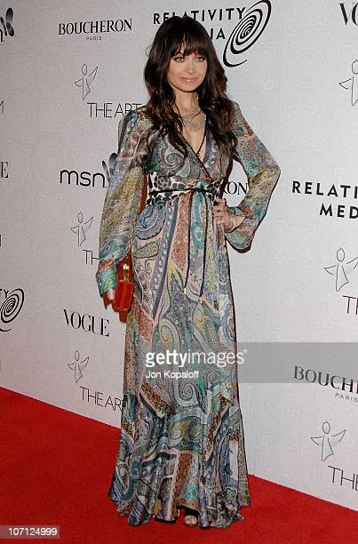 Actress Nicole Richie arrives at The Art of Elysium's 3rd Annual BlackTie Charity Gala Heaven at 9900 Wilshire Blvd on January 16 2010 in Beverly...