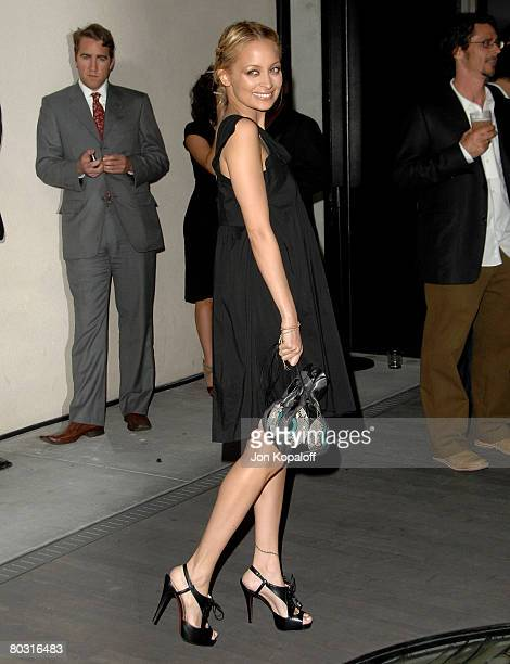 Actress Nicole Richie arrives at the Trembled Blossoms Presented by Prada at the Prada Beverly Hills Epicenter on March 19 2008 in Beverly Hills...