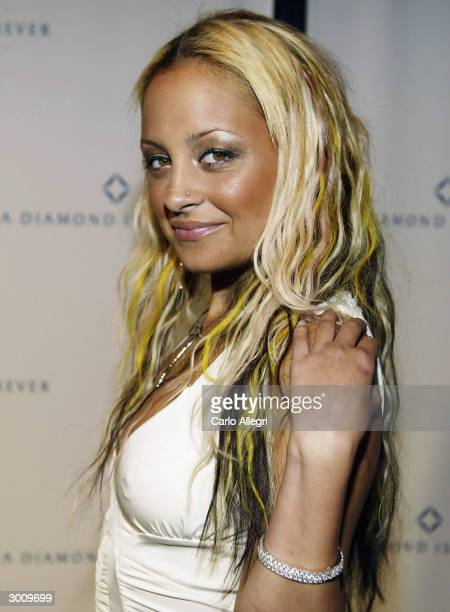 Actress Nicole Richie arrives for a party and performance by the band Camp Freddy at the 'A Diamond Is Forever Pre-Oscar Party', February 23 in Los...
