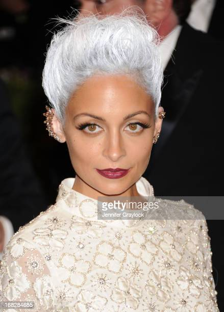 """Actress Nicole Richie attends the Costume Institute Gala for the """"PUNK: Chaos to Couture"""" exhibition at the Metropolitan Museum of Art on May 6, 2013..."""