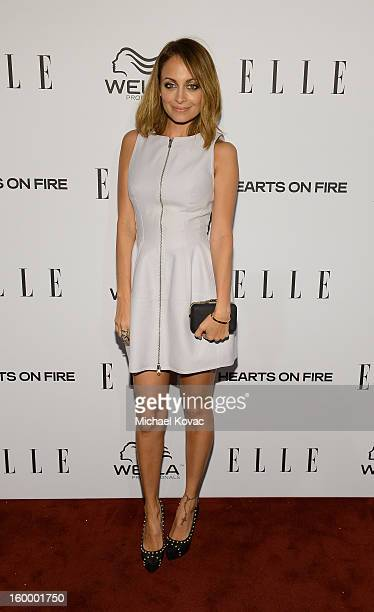 Actress Nicole Richie attends the ELLE's Women in Television Celebration at Soho House on January 24 2013 in West Hollywood California