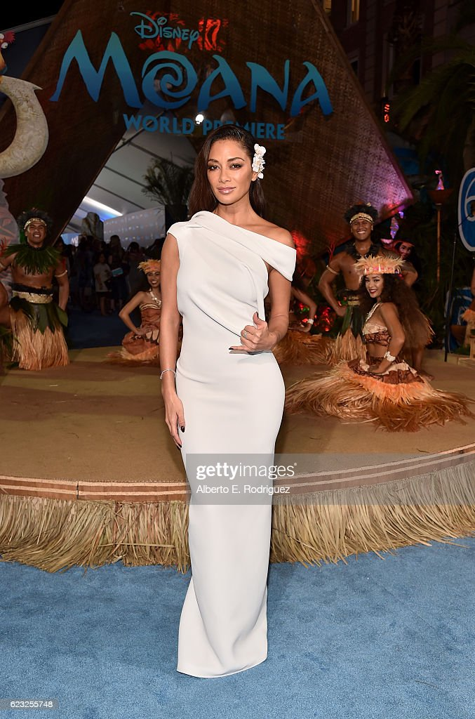 Actress Nicole Scherzinger attends The World Premiere of Disney's 'MOANA' at the El Capitan Theatre on Monday, November 14, 2016 in Hollywood, CA.