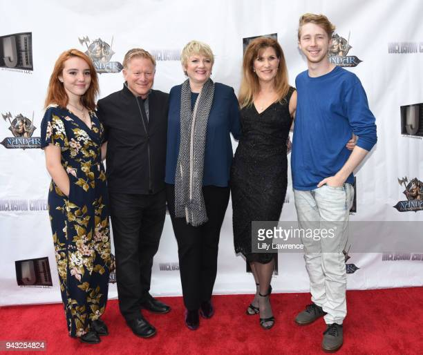 Actress Nicole Taylor Criss actor Eric Scott actor Alison Arngrim writer/actress Judy Norton and actor Joey Luthman attend the premiere of 'Inclusion...