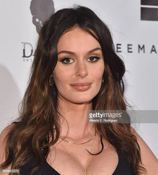 Actress Nicole Trunfio arrives to the Los Angeles premiere of Jimi All Is By My Side at ArcLight Cinemas on September 22 2014 in Hollywood California