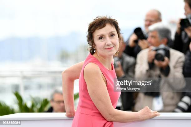 Actress Nicoletta Braschi attends the photocall for Happy As Lazzaro during the 71st annual Cannes Film Festival at Palais des Festivals on May 14...