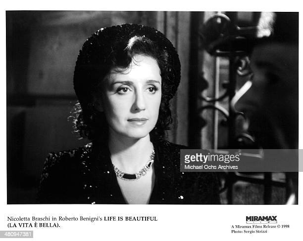 Actress Nicoletta Braschi in a scene from the Miramax movie Life Is Beautiful circa 1997