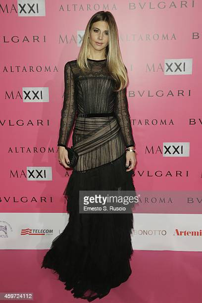 Actress Nicoletta Romanoff attends the MAXXI Gala Dinner photocall at Maxxi Museum on November 29 2014 in Rome Italy
