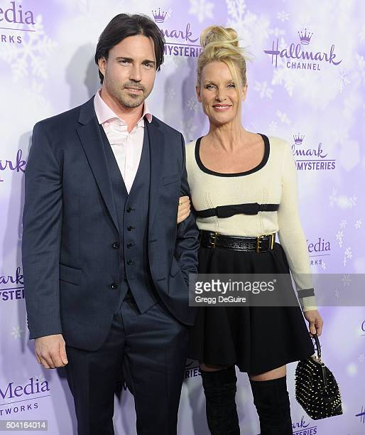 Actress Nicollette Sheridan and date arrive at the Hallmark Channel and Hallmark Movies and Mysteries Winter 2016 TCA Press Tour at Tournament House...