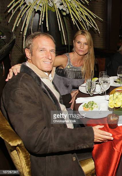 Actress Nicollette Sheridan and Michael Bolton at Crustacean's Ten Year anniversary with Perfomance by Patti LaBelle on January 262008 in Beverly...