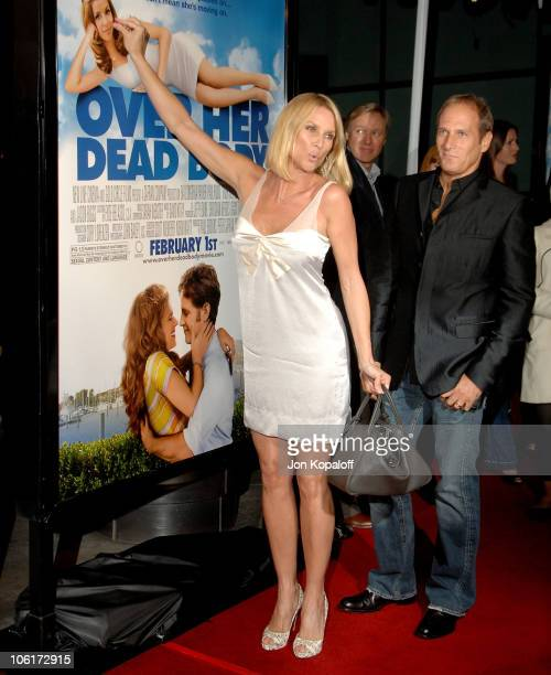 Actress Nicollette Sheridan and singer Michael Bolton arrive at the Los Angeles Premiere Over Her Dead Body at the ArcLight Hollywood Theater on...