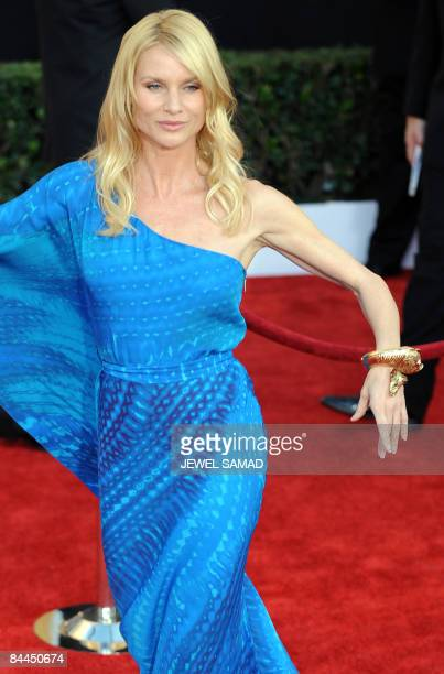 Actress Nicollette Sheridan arrives at the 15th Annual Screen Actors Guild Awards at the Shrine Auditorium in Los Angeles California on January 25...