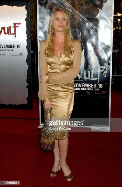 Actress Nicollette Sheridan arrives at the Beowulf premiere at the Mann Village Theatre on November 5 2007 in Westwood California