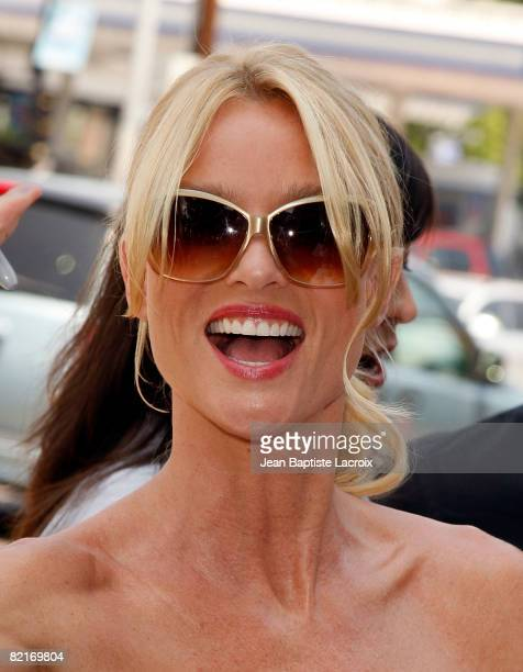 Actress Nicollette Sheridan arrives at the Premiere Of Fly Me To The Moon at the DGA on August 3 2008 in Los Angeles California