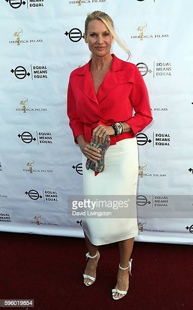 Actress Nicollette Sheridan attends a screening of Heroica Films' 'Equal Means Equal' at Laemmle's Music Hall 3 on August 26 2016 in Beverly Hills...