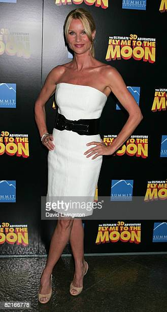 Actress Nicollette Sheridan attends the Los Angeles premiere of Fly Me to the Moon at the Directors Guild of America on August 3 2008 in Los Angeles...