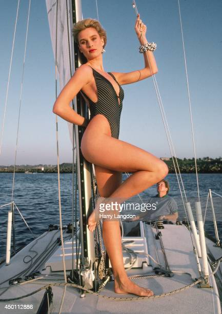 Actress Nicollette Sheridan poses for a portrait in 1985 in Los Angeles California