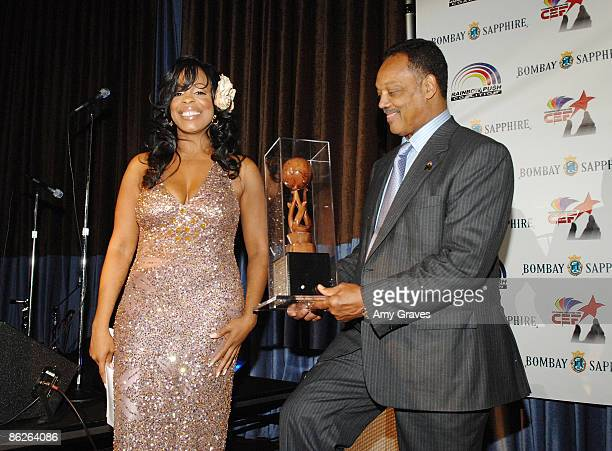 Actress Niecy Nash and Founder and President of the Rainbow PUSH Coalition Reverend Jesse Jackson Sr attend the VIP Cocktail Reception hosted by...