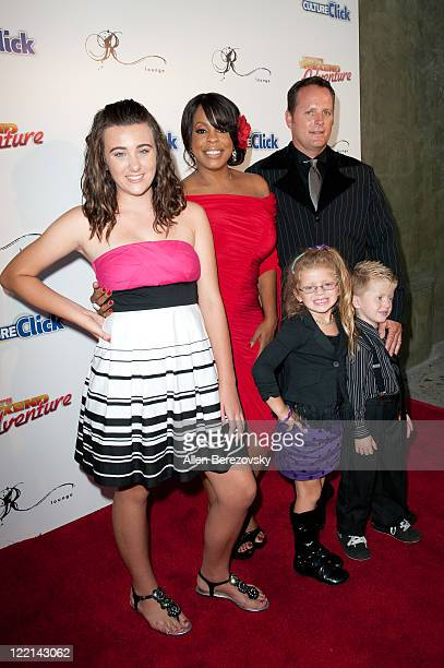 Actress Niecy Nash and her Celebrity Wife Swap family arrive at the Culture Click launch party at the R Lounge on August 25 2011 in Studio City...
