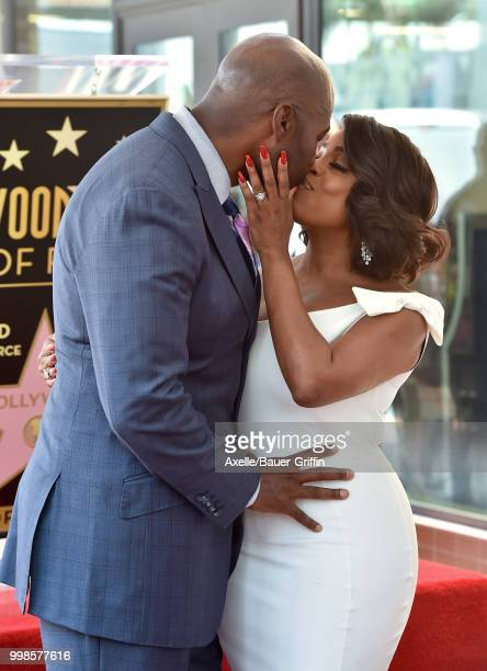 Actress Niecy Nash and husband Jay Tucker attend the ceremony honoring Niecy Nash with star on the Hollywood Walk of Fame on July 11 2018 in...
