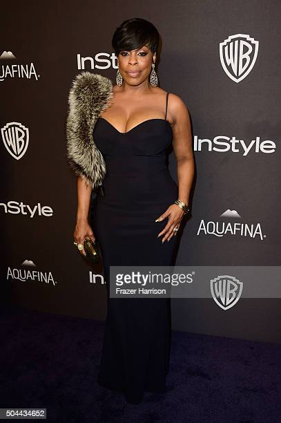 Actress Niecy Nash attends InStyle and Warner Bros 73rd Annual Golden Globe Awards PostParty at The Beverly Hilton Hotel on January 10 2016 in...
