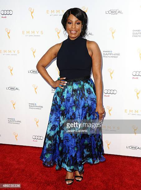 Actress Niecy Nash attends the Television Academy's celebration for the 67th Emmy Award nominees for outstanding performances at Pacific Design...