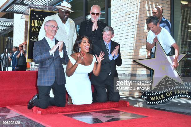 Actress Niecy Nash reacts as her Hollywood Walk of Fame Star is unveiled in Hollywood California on July 11 2018 Niecy Nash was the recipient of the...