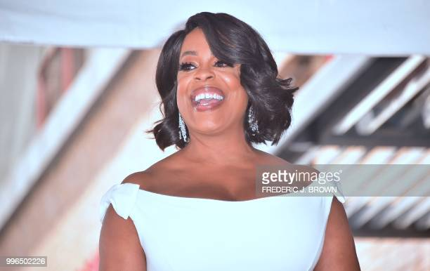 Actress Niecy Nash reacts during her Hollywood Walk of Fame Star ceremony in Hollywood California on July 11 2018 Niecy Nash was the recipient of the...