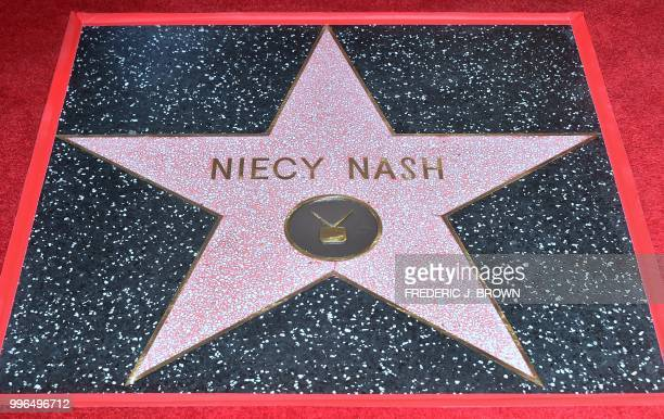 Actress Niecy Nash's Hollywood Walk of Fame Star during a ceremony in Hollywood California on July 11 2018 Niecy Nash was the recipient of the 2639th...