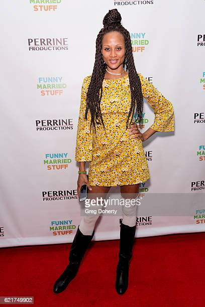 Actress Nika Williams arrives for the Screening Of Perrine Productions' 'Funny Married Stuff' at the ACME Comedy Theatre on November 7 2016 in Los...