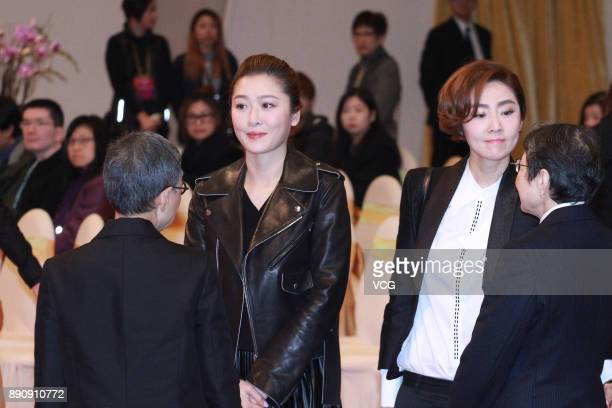 Actress Niki Chow attends the memorial service for Hong Kong film and television producer Mona Fong on December 12 2017 in Hong Kong China