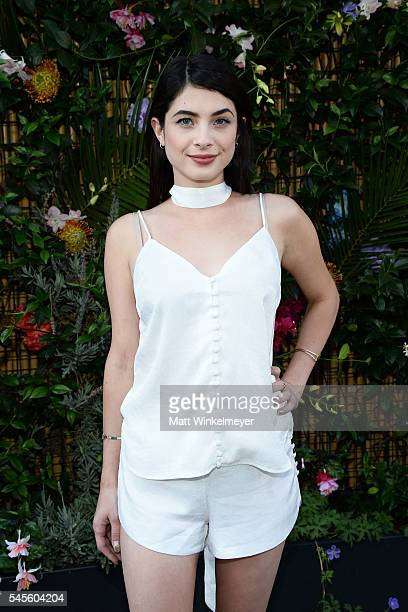 Actress Niki Koss attends the bando Poolside Party at The Line Hotel on July 8 2016 in Los Angeles California