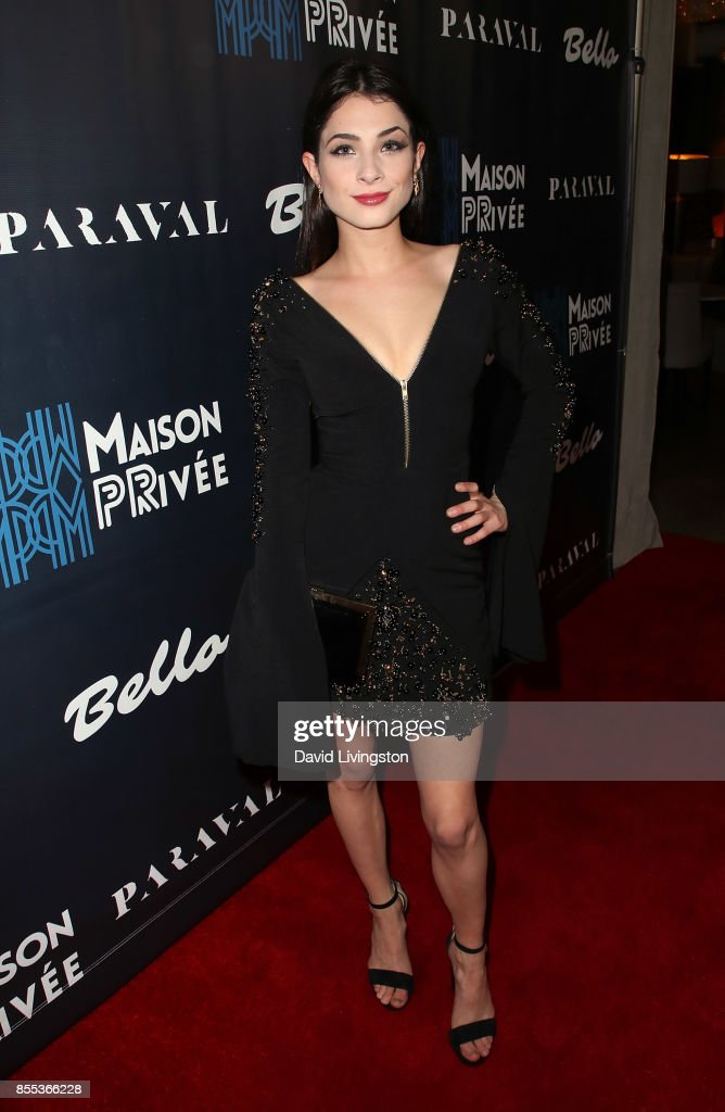 Actress Niki Koss attends the Bello and Maison Privee party at Hills Penthouse on September 28, 2017 in West Hollywood, California.