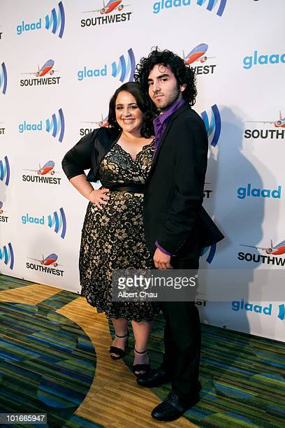 Actress Nikki Blonsky and guest Ginno Murphy arrive at the 21st Annual GLAAD Media Awards held at Marriot Marquis on June 5 2010 in San Francisco...