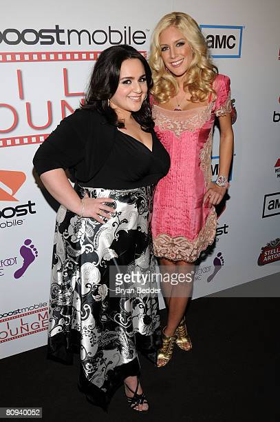 Actress Nikki Blonsky and television personality Heidi Montag attend the premiere party for Harold hosted by the Boost Mobile film lounge at 1 Oak on...