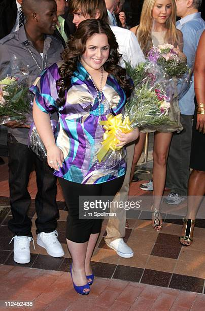 Actress Nikki Blonsky arrives at Hairspray Premiere at NJPAC on July 17 2007 in Newark New Jersey