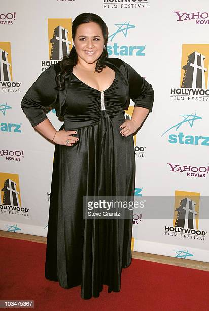 Actress Nikki Blonsky arrives to Hollywood Film Festival's Hollywood Awards at the Beverly Hilton Hotel on October 22 2007 in Beverly Hills California