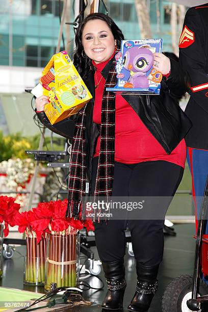 Actress Nikki Blonsky attends the CarolOke Contest at Bryant Park on December 3 2009 in New York City