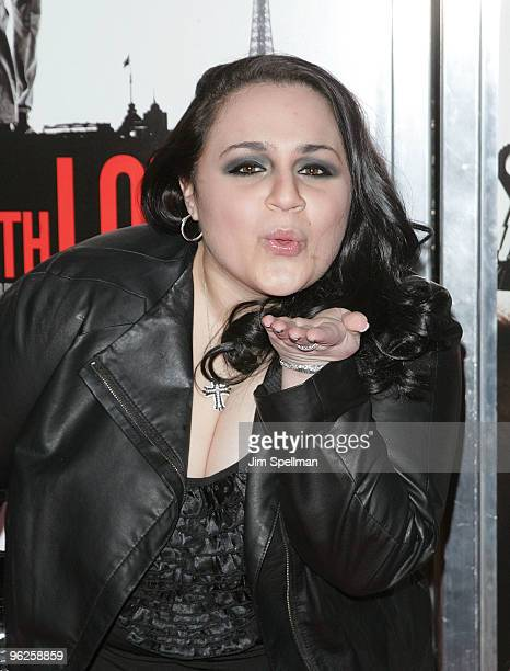 Actress Nikki Blonsky attends the 'From Paris With Love' premiere at the Ziegfeld Theatre on January 28 2010 in New York City