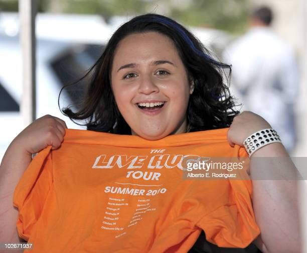 Actress Nikki Blonsky takes part in the ABC Family Live Huge bus campaign on July 6 2010 in Valencia California